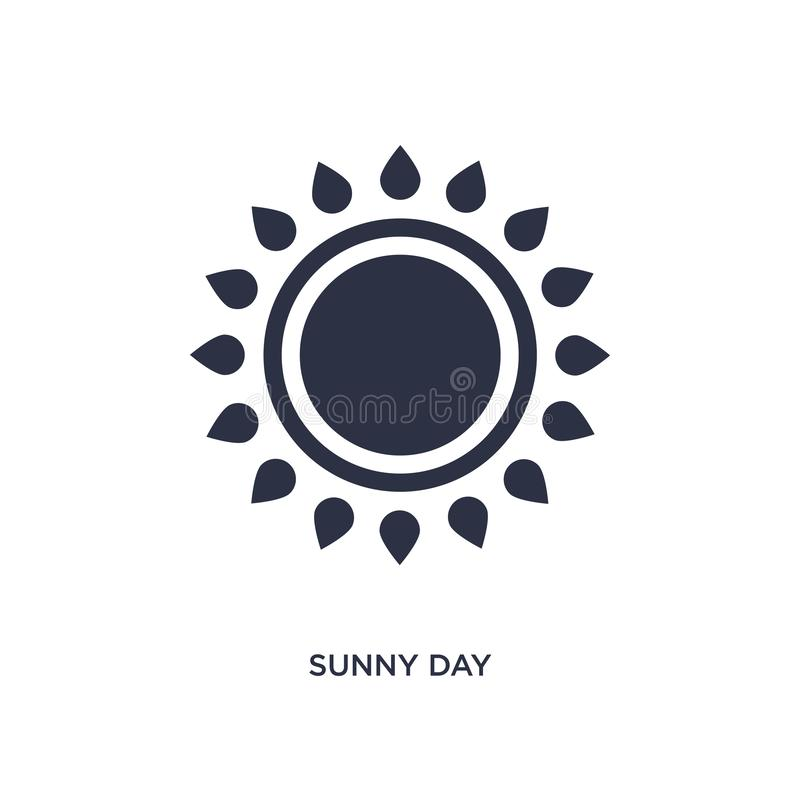 Sunny day icon on white background. Simple element illustration from airport terminal concept. Sunny day icon. Simple element illustration from airport terminal vector illustration