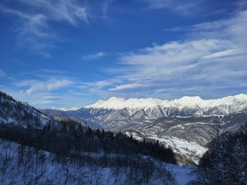Sunny day on the mountains royalty free stock images