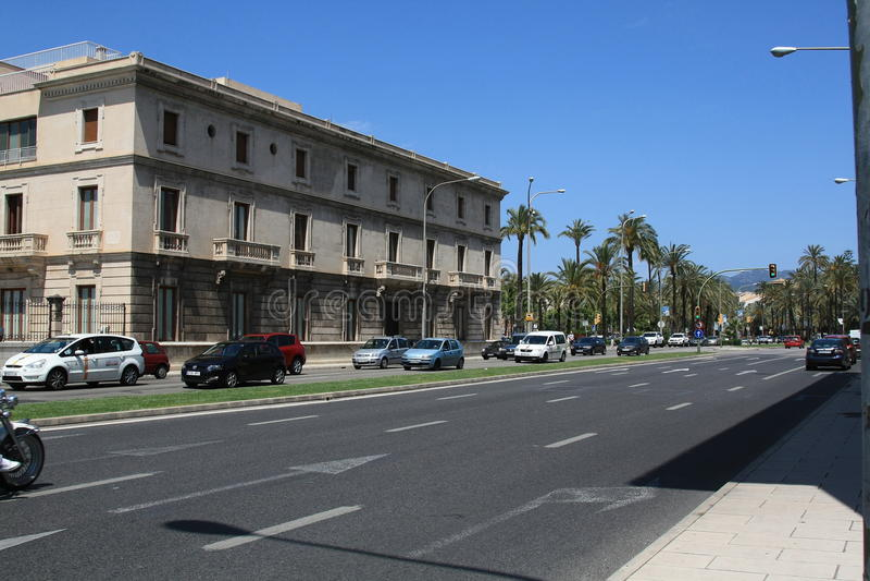 Sunny day in Palma de Mallorca royalty free stock photo