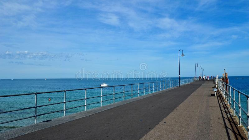 Sunny day, Pier, Adelaide royalty free stock photo