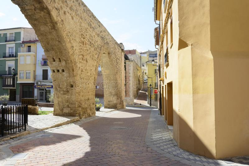 Sunny day in the quiet city of Segorbe. royalty free stock image