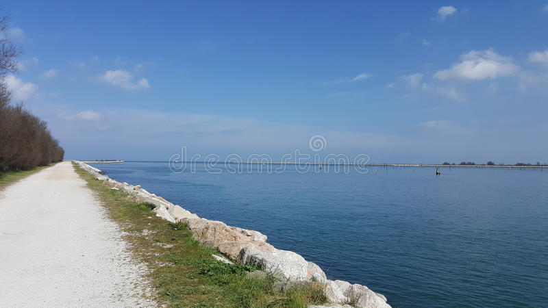 A sunny day at the sea in Italy stock photo