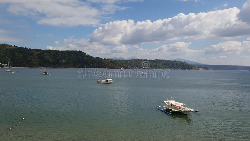 A sunny day in Subic bay, Philippines. stock photo