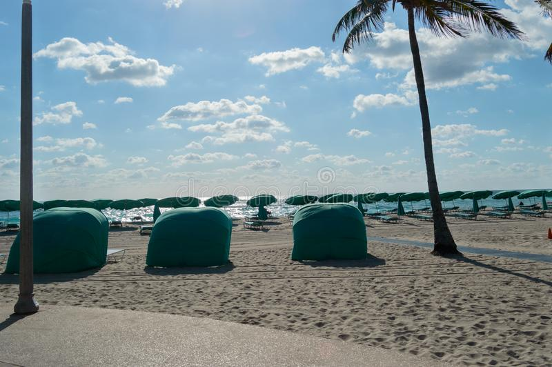 Sunny day on a tropical Florida Beach stock images