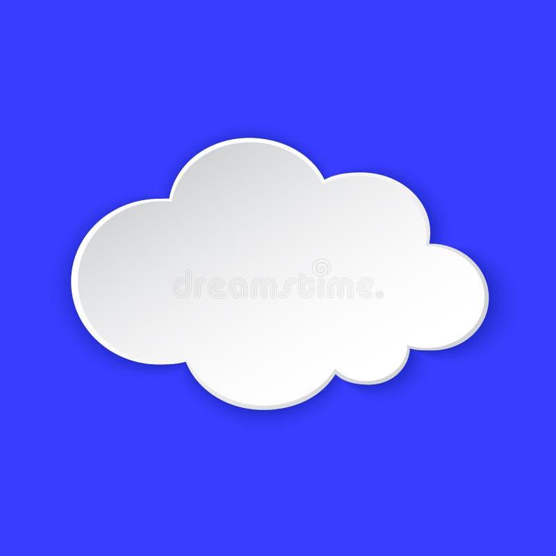 Sunny Day Weather voorspelde informatiepictogram Het gele document van het Zonsymbool sneed stijl op blauw Het element van het kl vector illustratie