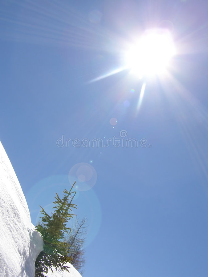 Download Sunny day in winter stock photo. Image of peaceful, blue - 4104404