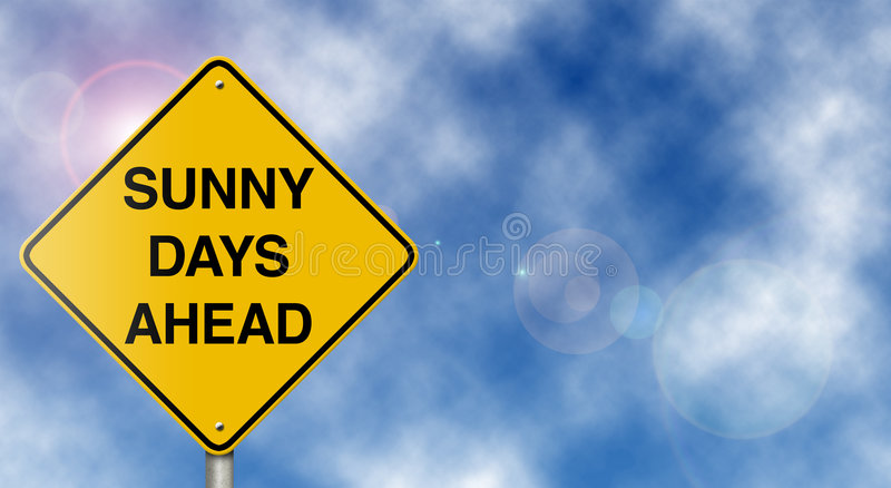 Download Sunny Days Ahead Road Sign stock image. Image of blue - 7752047
