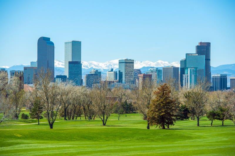 Sunny Denver Skyline royalty free stock photo
