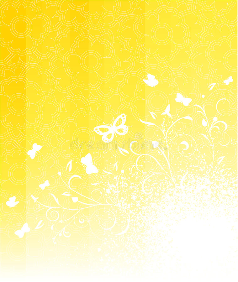 Download Sunny floral background stock vector. Image of natural - 13999199