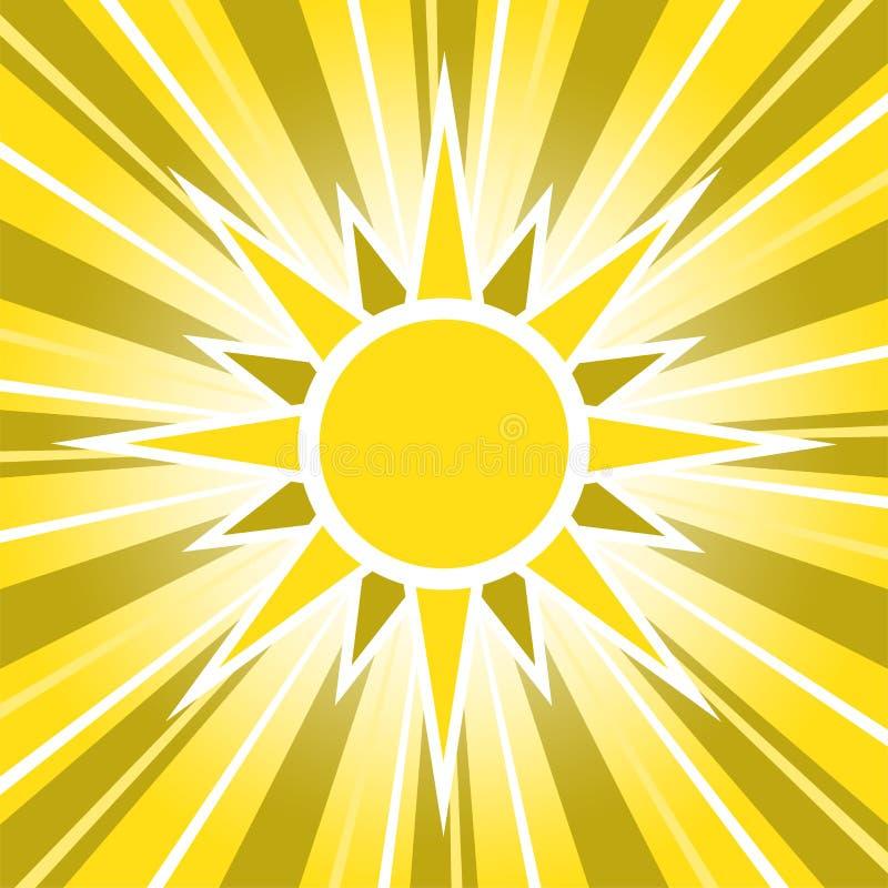 Sunny Golden Sun Glowing Sunrise illustration stock