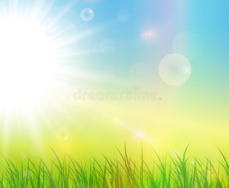 Sunny green background royalty free illustration