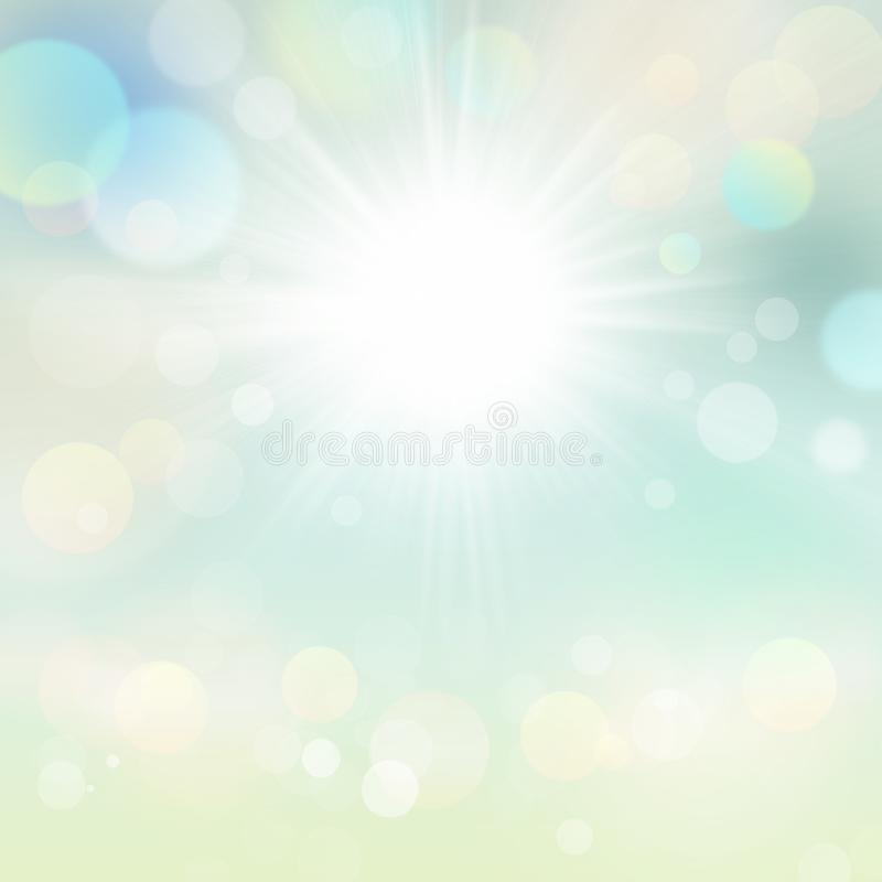 Background Of Blurred Beach And Sea Waves With Bokeh: Summer Holiday Background Beach And Tropical Sea With