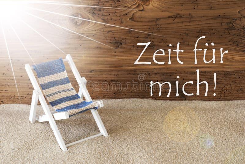 Sunny Greeting Card Zeit Fuer Mich hjälpmedel Tid för mig arkivfoto