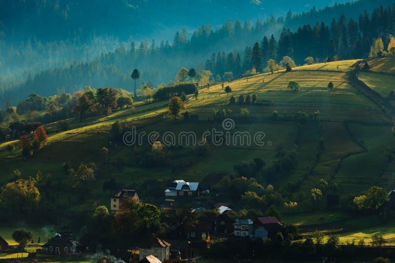 Sunny hills in Transylvania stock photography