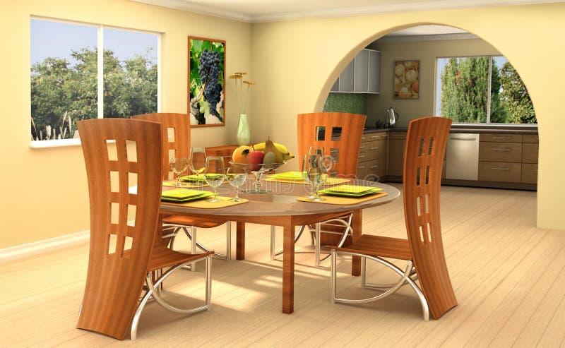 Sunny home royalty free illustration