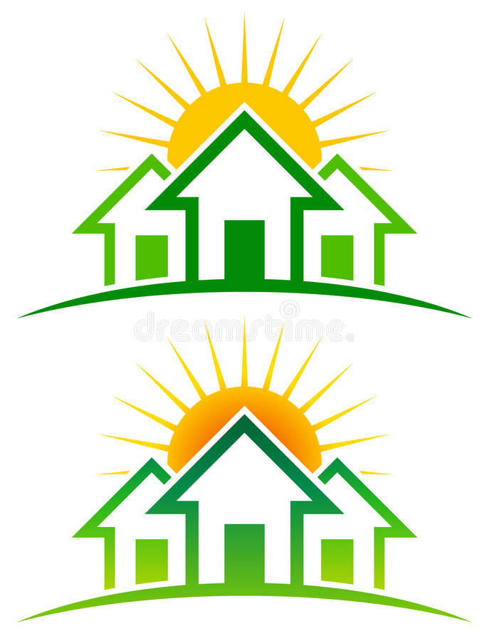 Sunny Home Logo lizenzfreie abbildung