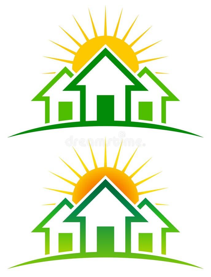 Sunny Home Logo royalty-vrije illustratie