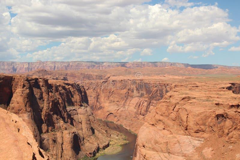 Sunny Horseshoe Bend Grand Canyon Arizona de V.S. stock foto