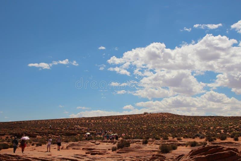 Sunny Horseshoe Bend Grand Canyon Arizona de V.S. stock fotografie