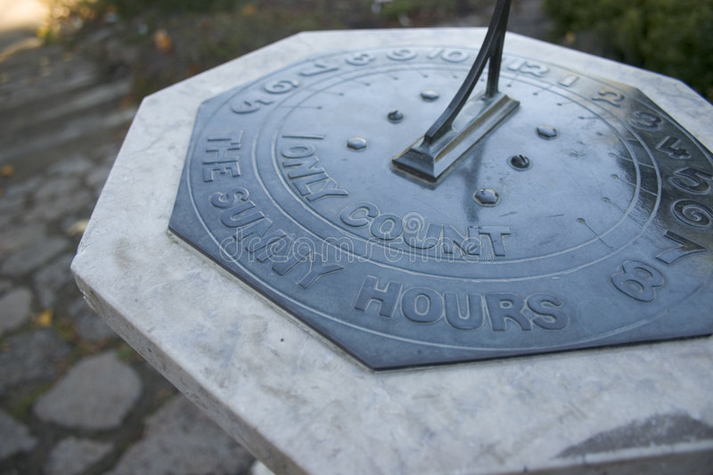 Download Sunny Hours Sundial stock photo. Image of marble, sundial - 102154