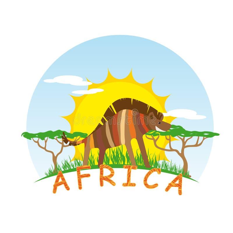 Sunny Hyena royaltyfri illustrationer