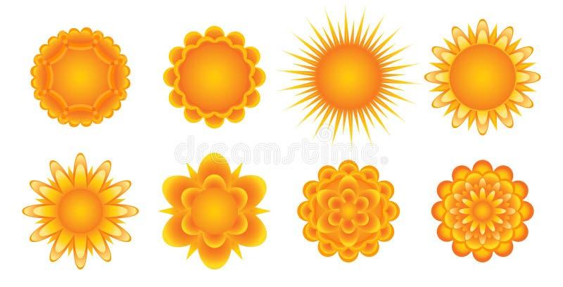 Sunny Icons Royalty Free Stock Photography