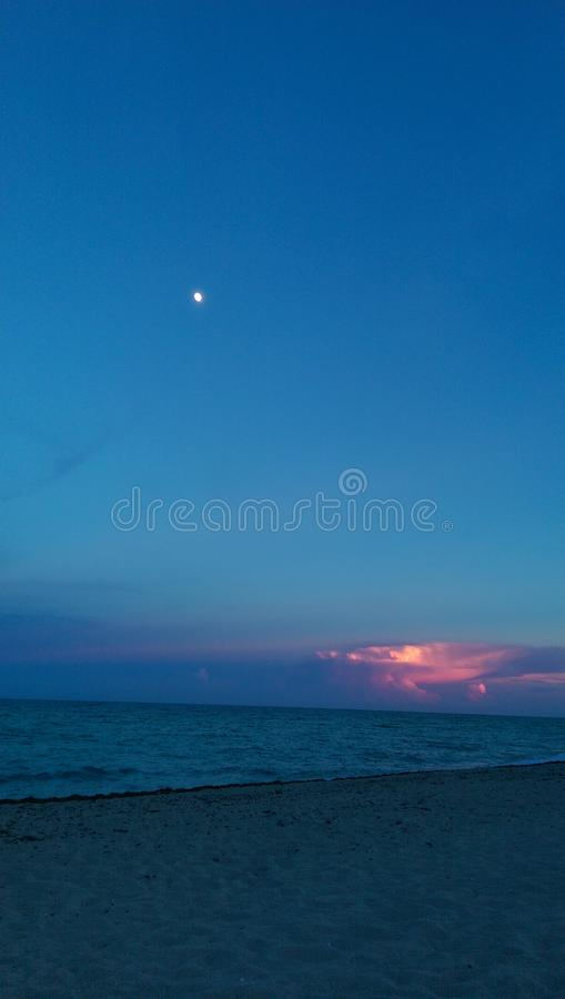 The Sunny isle beach Florida United States of America September. A Beach view of a south Floridia USA September 2014 stock image