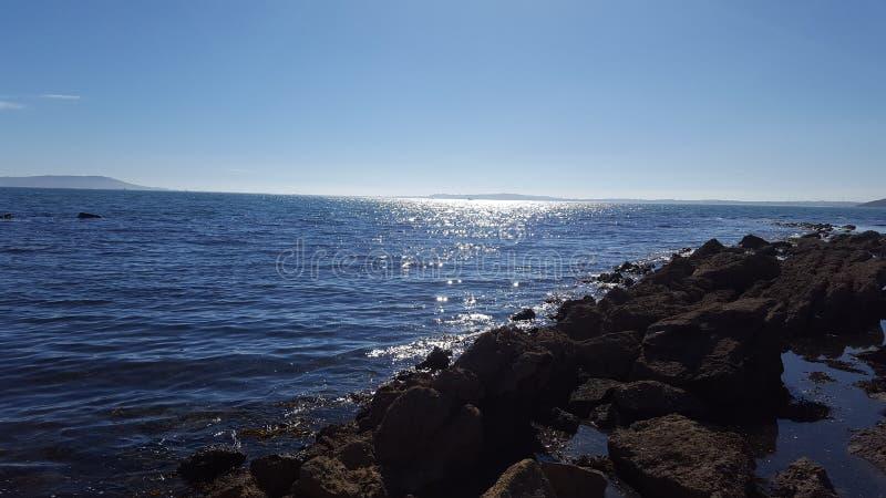Sunny jurasic coastline royalty free stock images
