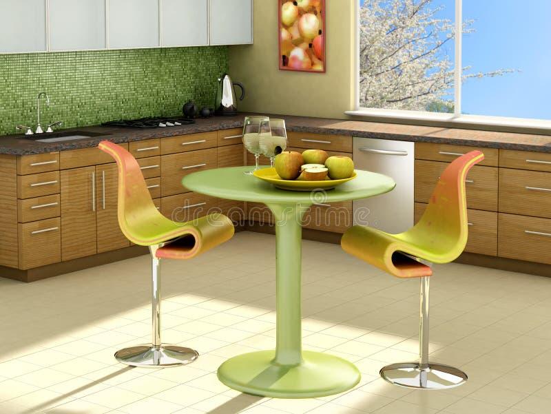 Sunny kitchen vector illustration