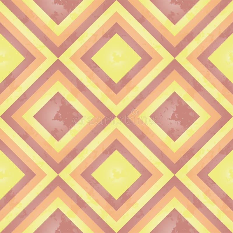 sunny kwadratowy retro wzoru ilustracji