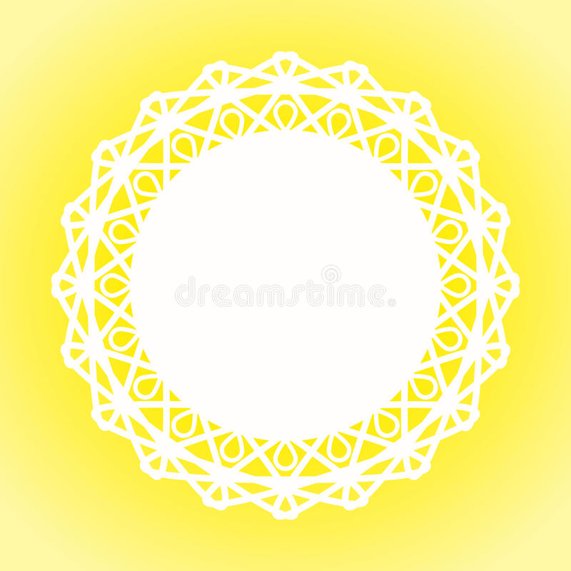 Sunny Lace Doily Border-Rahmen vektor abbildung