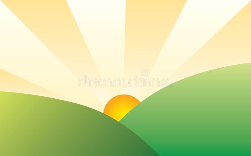 Download Sunny landscape stock vector. Image of summer, sunset - 20527186