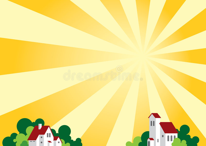 Sunny landscape stock photography