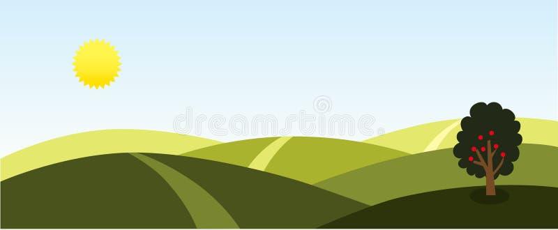 Sunny Landscape Background