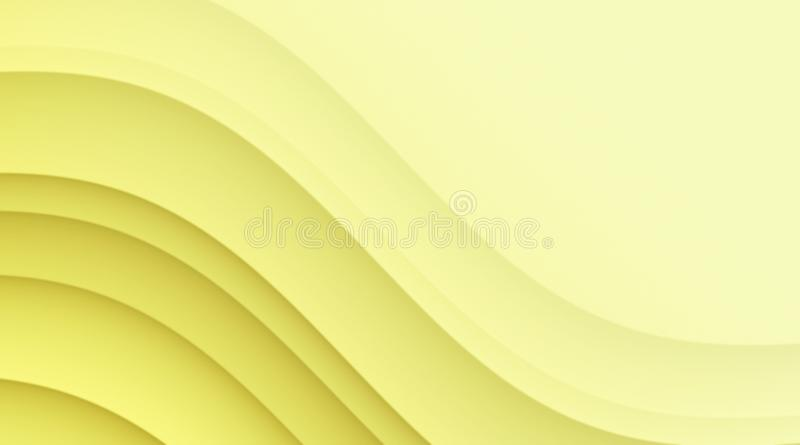 Sunny lemon yellow abstract curves art background wallpaper illustration vector illustration
