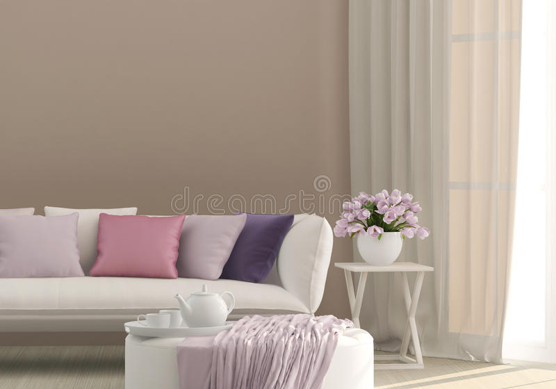 Sunny living room royalty free stock image