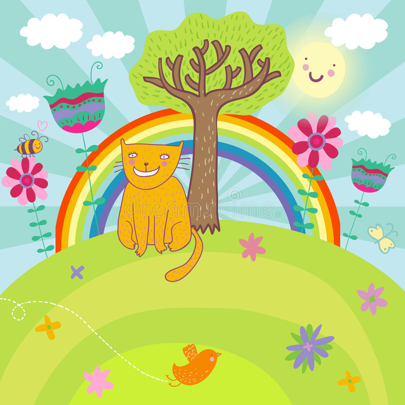 Sunny Llustration Royalty Free Stock Image