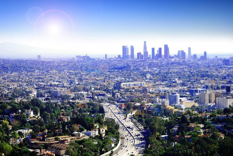 Sunny Los Angeles royalty free stock photo