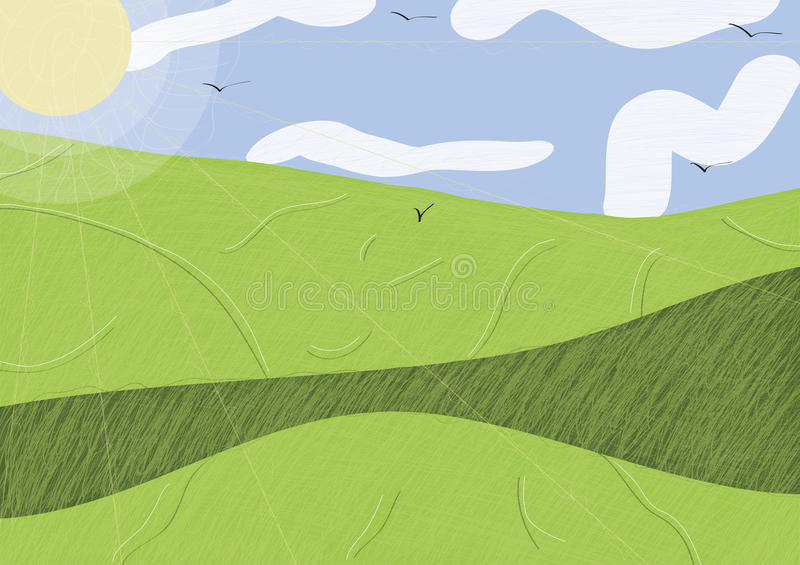 Sunny meadow abstraction royalty free stock photo