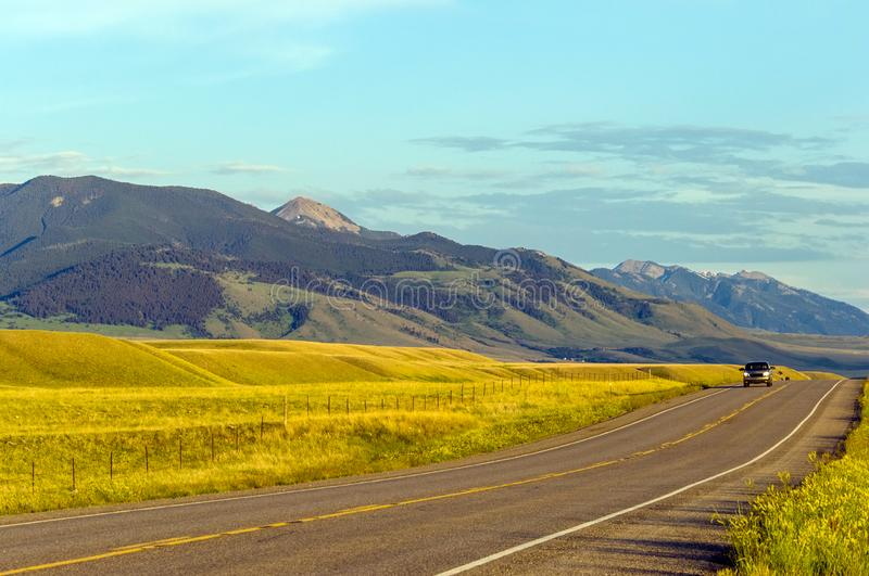 Sunny Montana countryside royalty free stock images