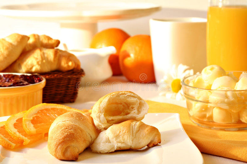 Sunny Morning Breakfast Stock Images