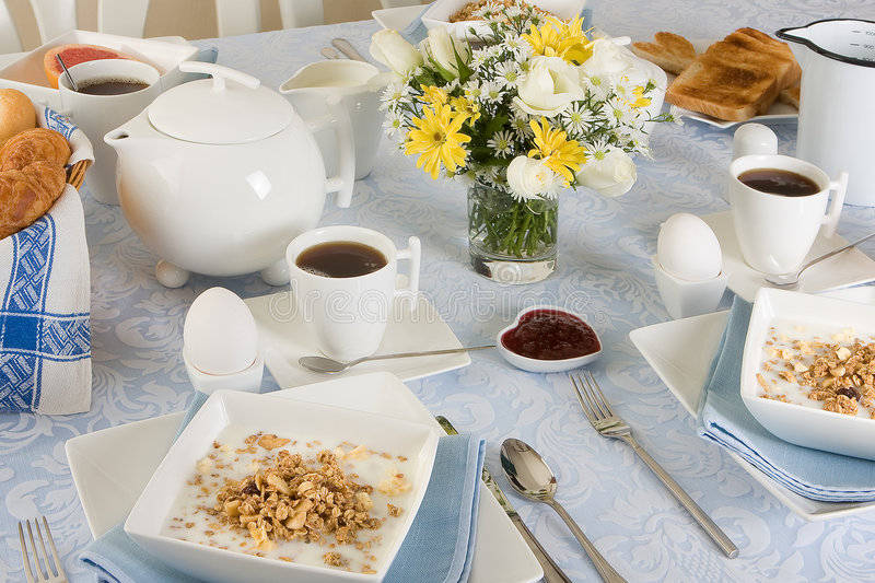 Sunny morning breakfast royalty free stock images