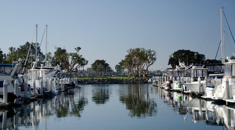 Morning at Seaport marina stock photo