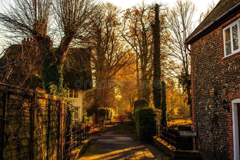 Sunny Mornings i England royaltyfria foton
