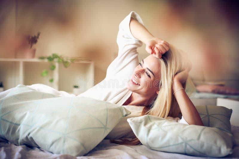 Sunny mornings make me happy. Lifestyle royalty free stock image