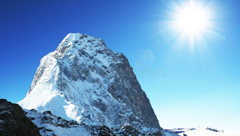Download Sunny mountain stock photo. Image of hiking, natural, sunny - 6601348
