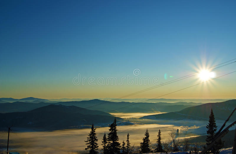 Sunny mountain royalty free stock images