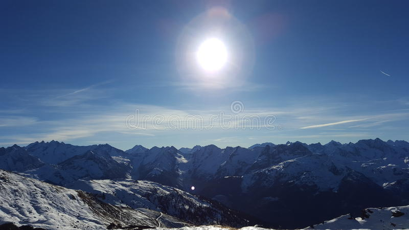 Sunny Mountans immagine stock