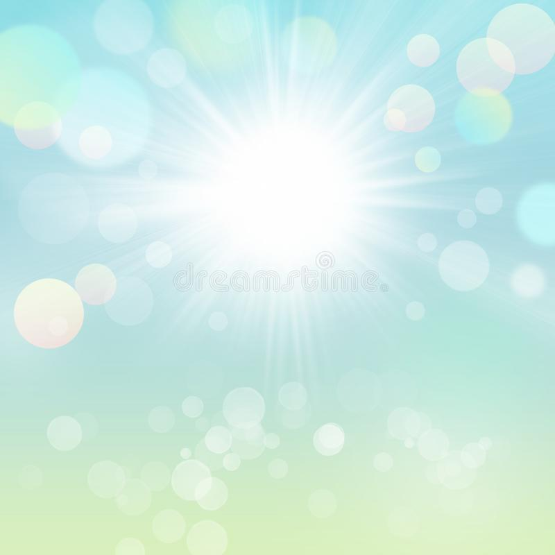 Sunny Nature Abstract Background verde con Bokeh libre illustration