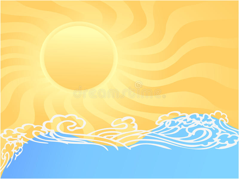 Download Sunny ocean stock vector. Image of curve, background - 13197024